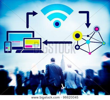 Internet DIgital Global Communication Togetherness Concept