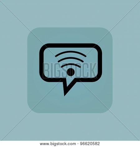 Pale blue Wi-Fi message icon