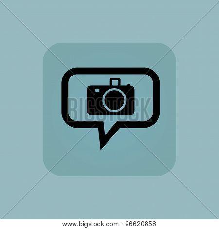 Pale blue camera message icon