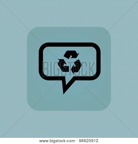Pale blue recycle message icon