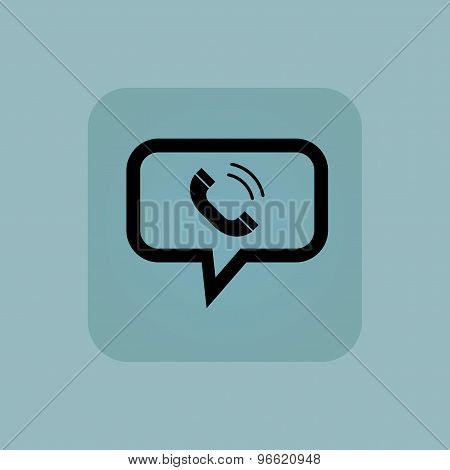 Pale blue calling message icon