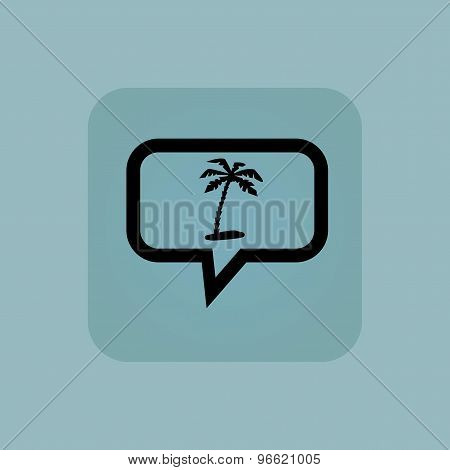 Pale blue vacation message icon