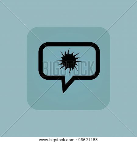 Pale blue starburst message icon