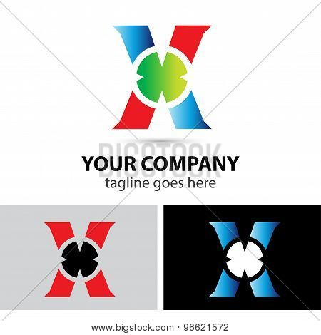Abstract logo icon for letter X