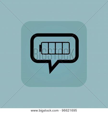 Pale blue empty battery message