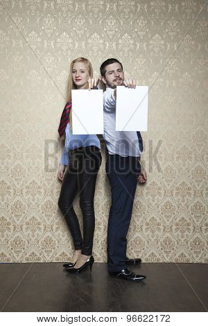 Business Couple With Copy Space