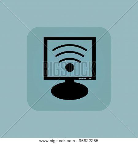 Pale blue Wi-Fi monitor icon