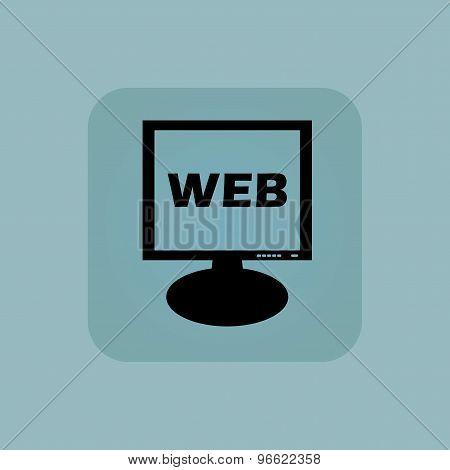 Pale blue WEB monitor icon