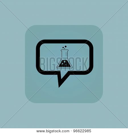 Pale blue conical flask message