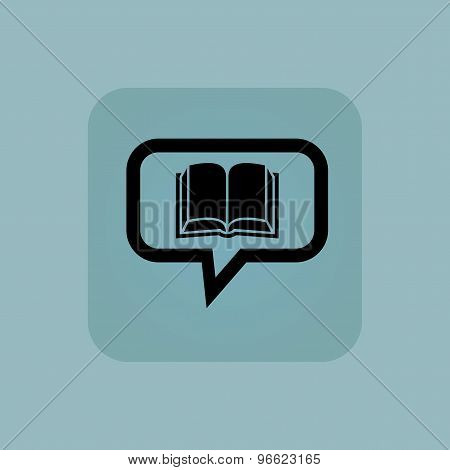 Pale blue book message icon