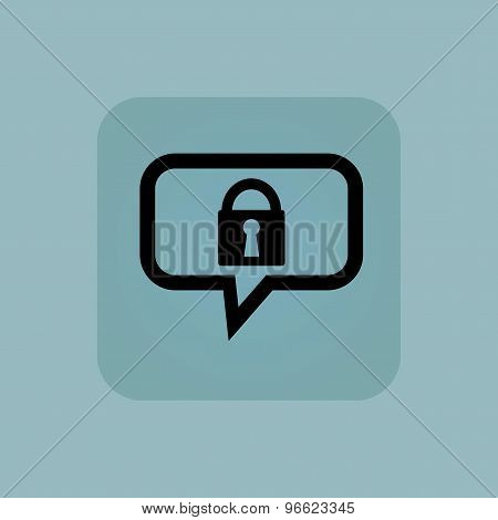 Pale blue locked message icon