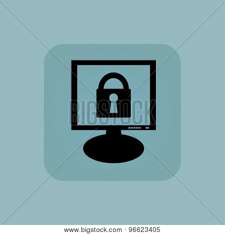 Pale blue locked monitor icon