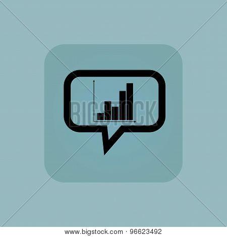 Pale blue graphic message icon