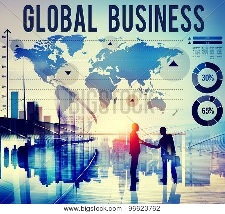 Global Business International Start Up Growth Concept