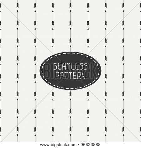 Geometric monochrome hipster line seamless pattern with vintage arrows. Wrapping paper. Scrapbook pa