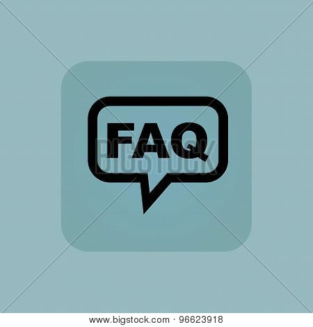 Pale blue FAQ message icon