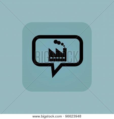 Pale blue factory message icon