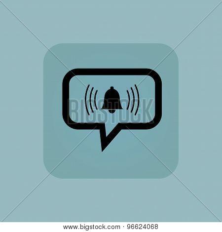 Pale blue alarm message icon