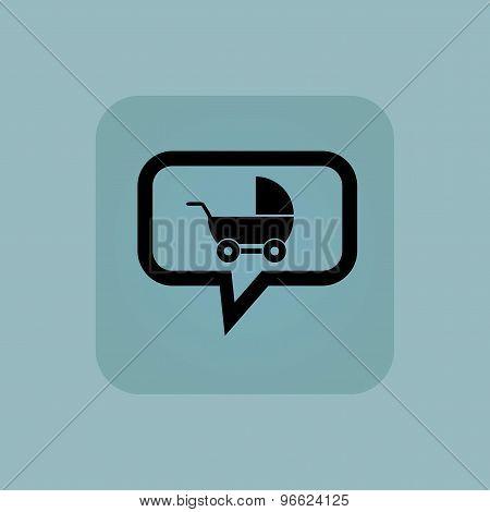Pale blue pram message icon