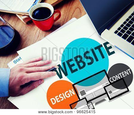 Website Design Content Internet Online Connection Concept
