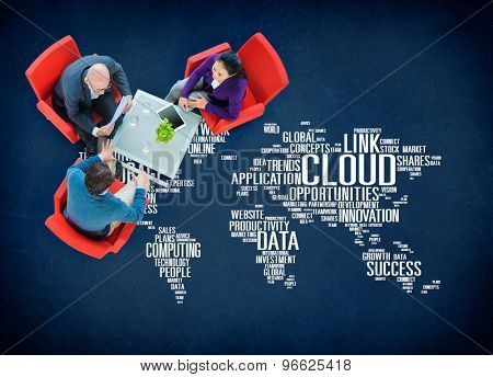 Link Cloud Computing Technology Data Information Concept