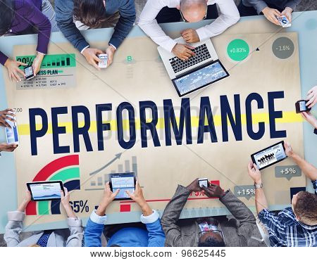 Performance Potential Efficiency Management Skill Concept