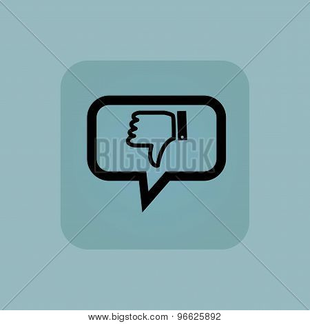 Pale blue dislike message icon