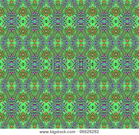 Seamless pattern green red