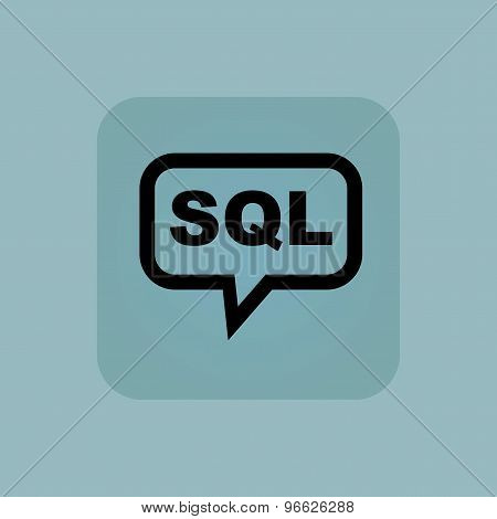 Pale blue SQL message icon