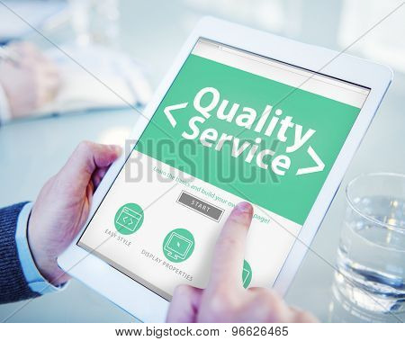 Digital Online Quality Service Office Working Concept