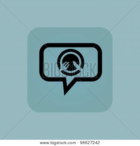 Pale blue dinner message icon
