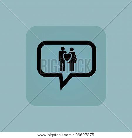 Pale blue love couple message