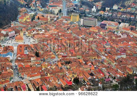 Brasov, Romania, Top View