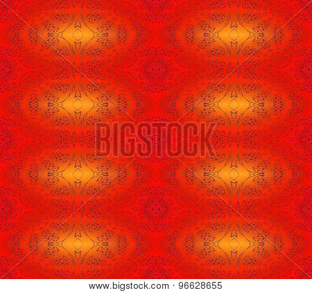 Seamless pattern red orange