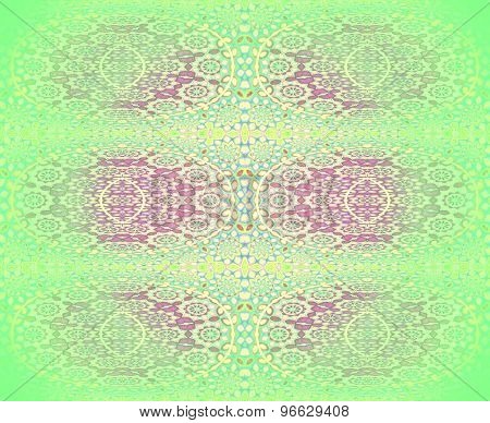 Seamless floral pattern green red