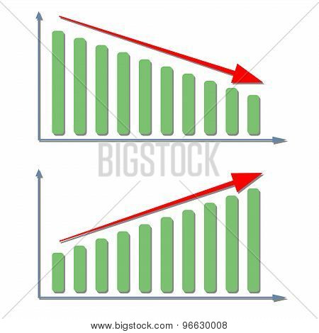 Vector growing graph icon 2