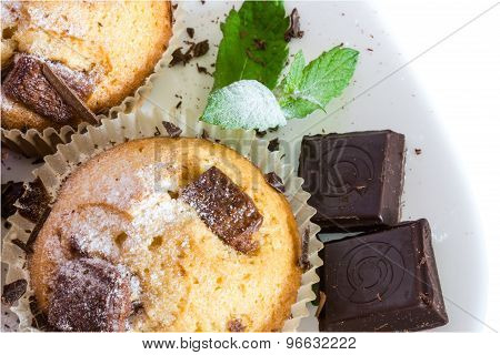 Fresh Baked Muffins With Clipping Path