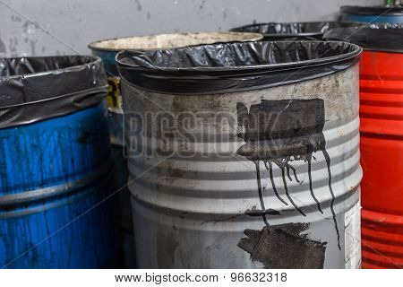 Old Bins Of Oil