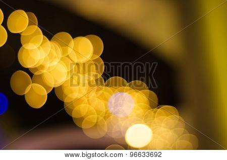 Golden Abstract Lights Bokeh
