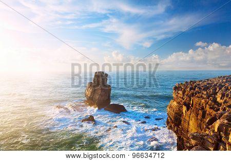 Rock In The Atlantic Ocean