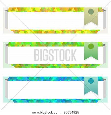 Horizontal Banner Website Page Header Flag Colored Triangles