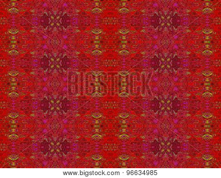 Seamless pattern red gold
