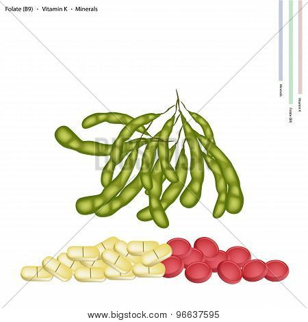 Green Soybeans with Vitamin B, K and Manganese