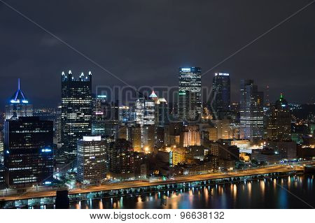 Pittsburg Skyline at Night