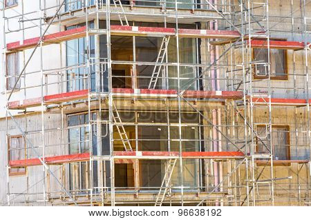 Block Of Apartments Under Construction