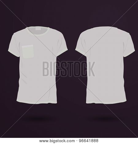 Blank T-shirt Template. Front And Back..