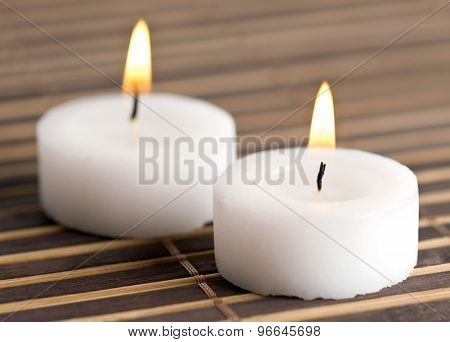 Two Candles On Napkin