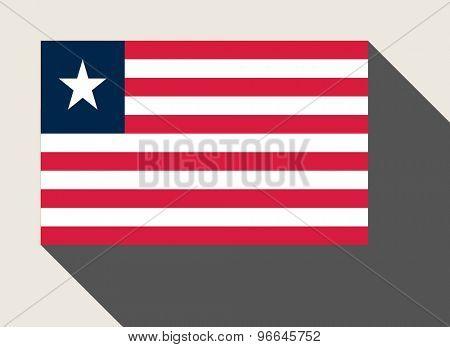 Liberia flag in flat web design style.