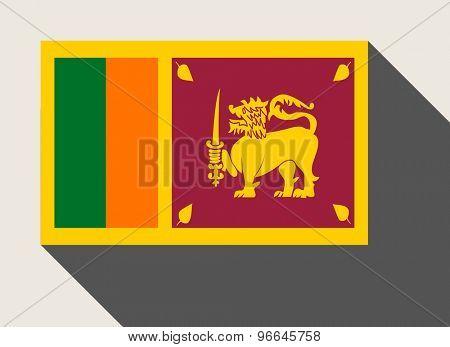 Sri Lanka flag in flat web design style.