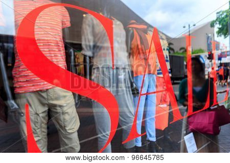 word sale print on shopfront window